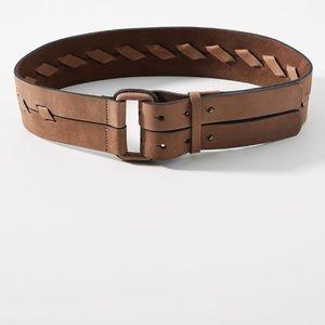 Anthropologie Bianca Waist Leather Belt
